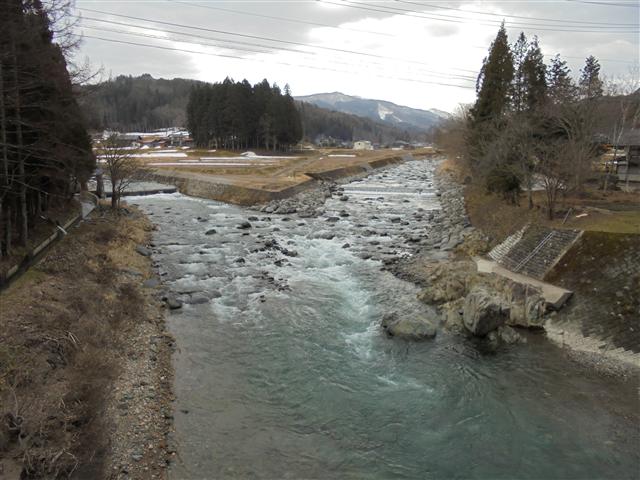 一色川合流地点